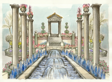 Artist's rendering of the entrance to the Flower Show