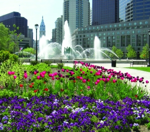 Philadelphia Green works to improve the appearance and vitality of existing public landscapes, including Logan Circle.