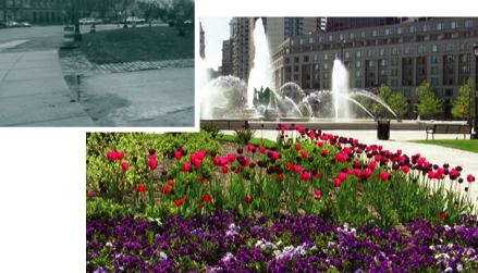 The gardens at Logan Circle, before and after
