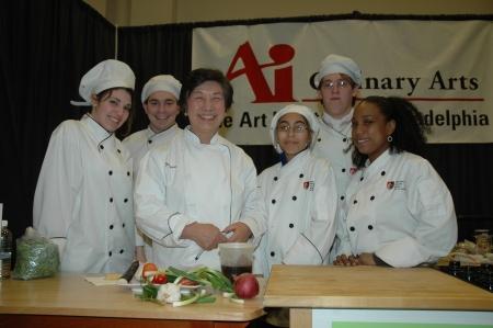 aspiring chefs with Susanna Foo