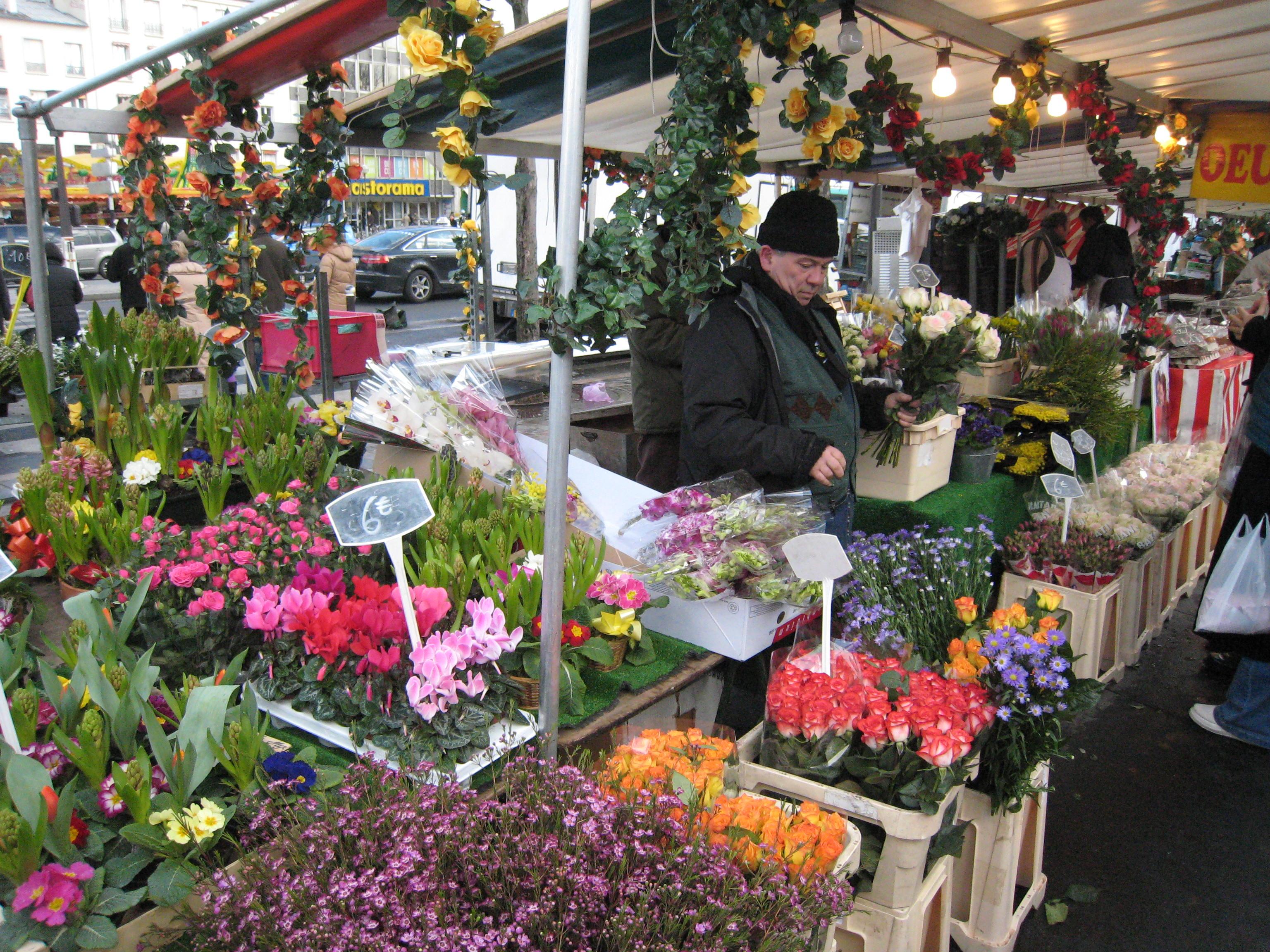 Postcard Worthy Paris French Flower Market