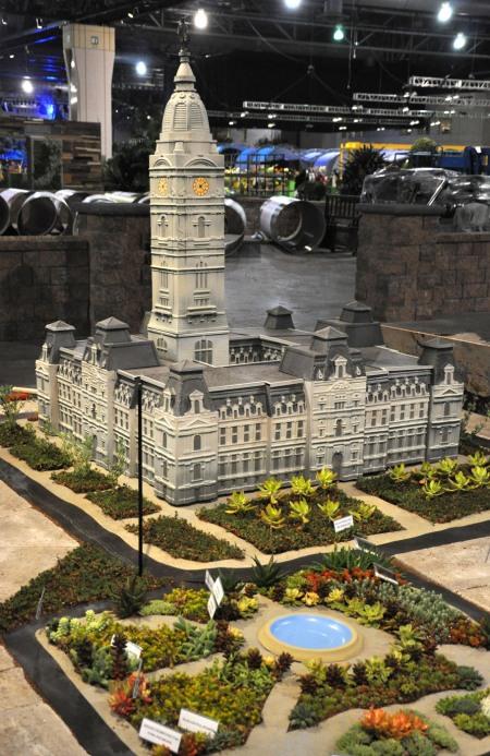 Photo of model of City Hall